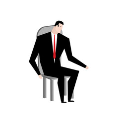 Businessman on chair boss in stool manager vector
