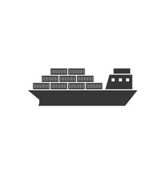cargo ship vessel for logistic icon vector image vector image
