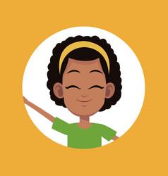 Cartoon girl child avatar vector