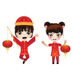 Chinese boy and girl2 vector