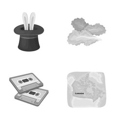 Circus art and other monochrome icon in cartoon vector