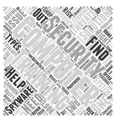 Computer security training word cloud concept vector