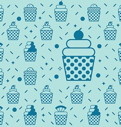 Cupcake seamless background vector image vector image