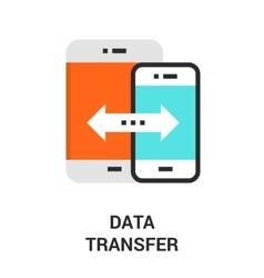 Data transfer icon vector
