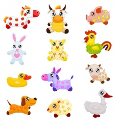 domestic toy animals vector image