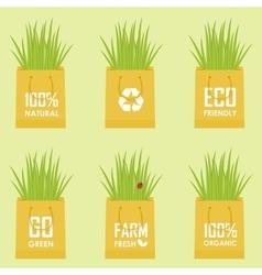Eco recycle bag vector