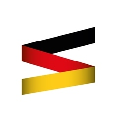 flag colors germany europe icon vector image vector image