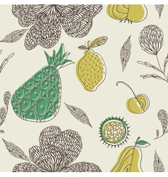 fruit drawing wallpaper vector image