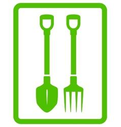 garden landscaping tools icon vector image vector image