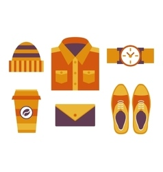 Hipster style objects vector image