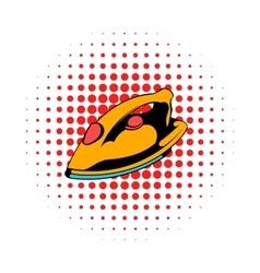 Iron icon comics style vector image