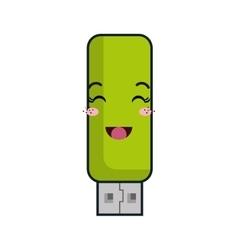 kawaii cartoon flash drive vector image