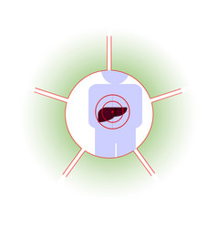 Liver person at risk vector
