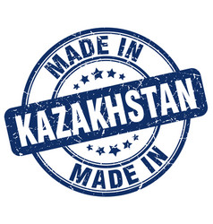 Made in kazakhstan blue grunge round stamp vector