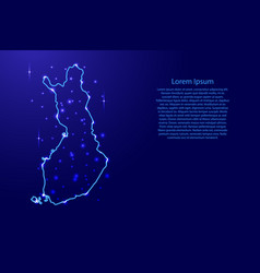 map finland from the contours network blue vector image