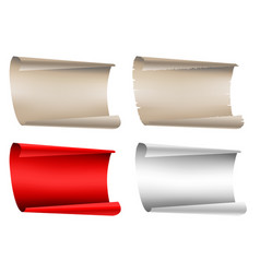 paper blank collection on white vector image vector image