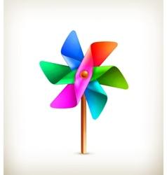 Pinwheel toy multicolor vector image vector image