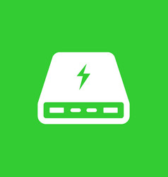 power bank portable charger icon vector image vector image