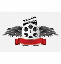 reel with wing vector image