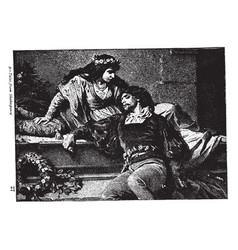 Romeos death vintage vector