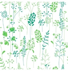 Seamless pattern with stylized herbs and plants vector image vector image