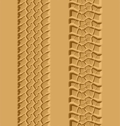 Seamless tire tracks vector