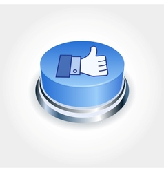 Social media concept Blue Like button in vector image