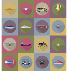 transport flat icons 79 vector image vector image