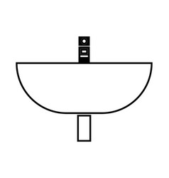 wash basin black color icon vector image vector image