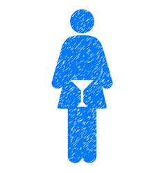 Wc woman grunge icon vector