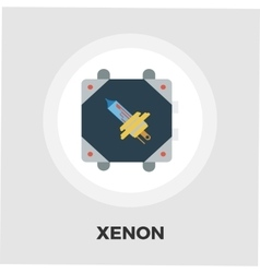 Xenon car lamp icon flat vector