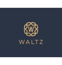 Premium letter w logo icon design luxury vector