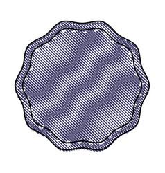 label sticker decoration frame blank vector image