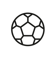 Soccer ball icon on white background vector