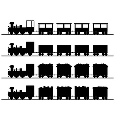 Old trains vector