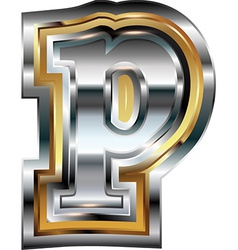 Fancy font Letter p vector image