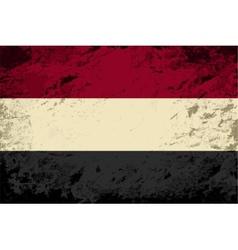 Yemeni flag grunge background vector