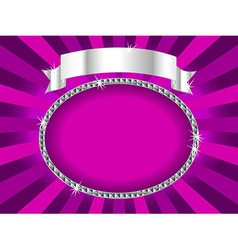 billboard in pink and silver vector image