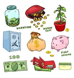 Set of cartoon money vector