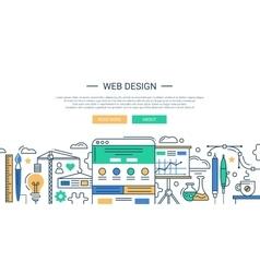 Modern line flat design vector