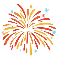 Close up firework on white vector