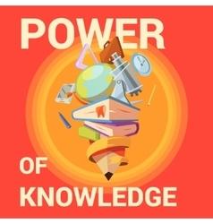 Education cartoon poster vector image