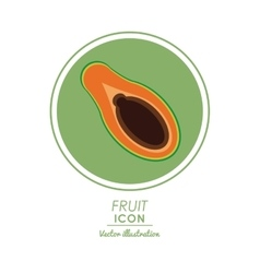 Papaya icon healthy food design graphic vector