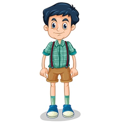 A tall young man vector image