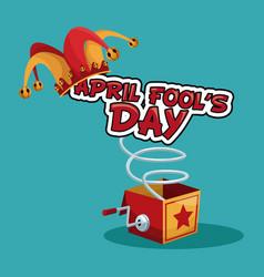 april fools day concept vector image