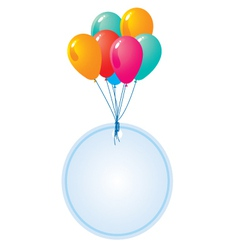 Balloon with blank circle card vector