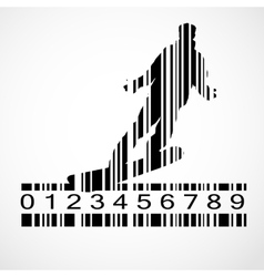 Barcode Snowboarder Image vector image vector image