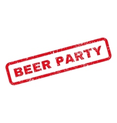 Beer party text rubber stamp vector