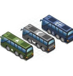 bus02militareb 380 vector image vector image
