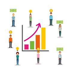 Crowdfunding people sponsor chart finance increase vector